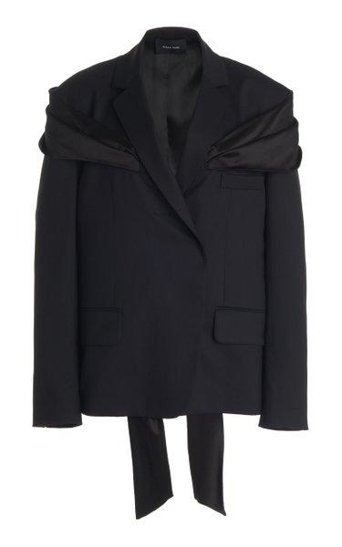 Oversized Stretch-Wool Jacket