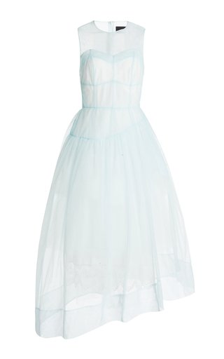 Asymmetric Sheer Tulle Corset Dress