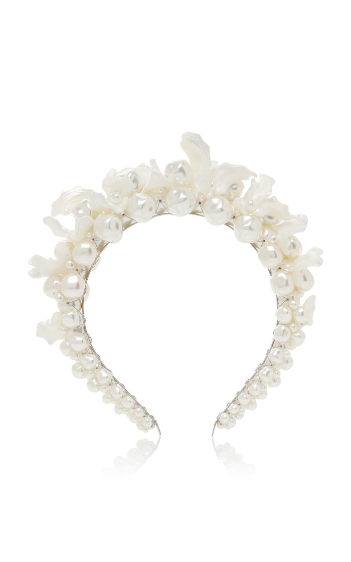 Resin And Faux Pearl Headband