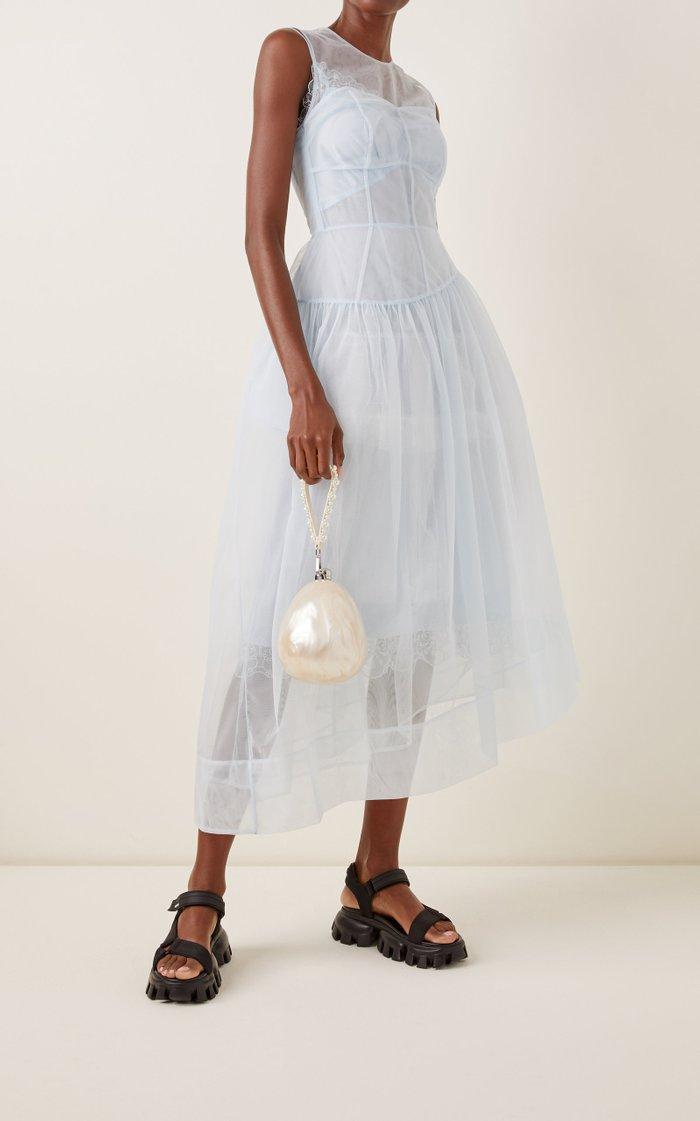 Mini Perspex Pearl Acrylic Top Handle Bag