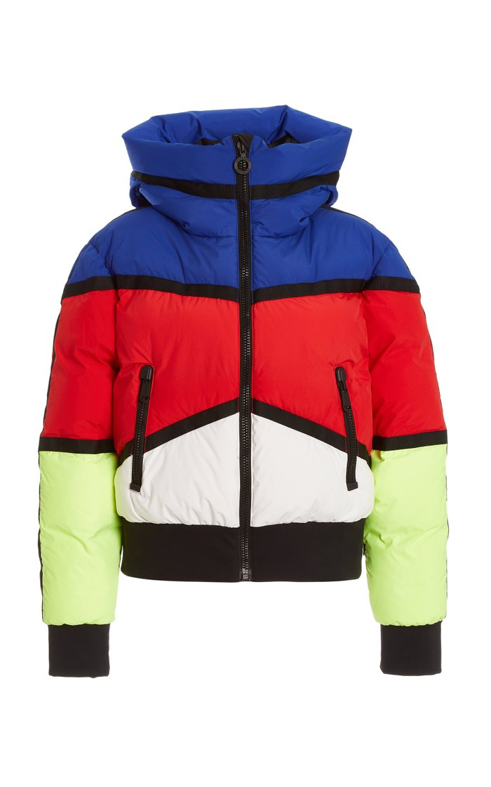 Mondriaan Stretch-Shell Multicolored Bomber Jacket