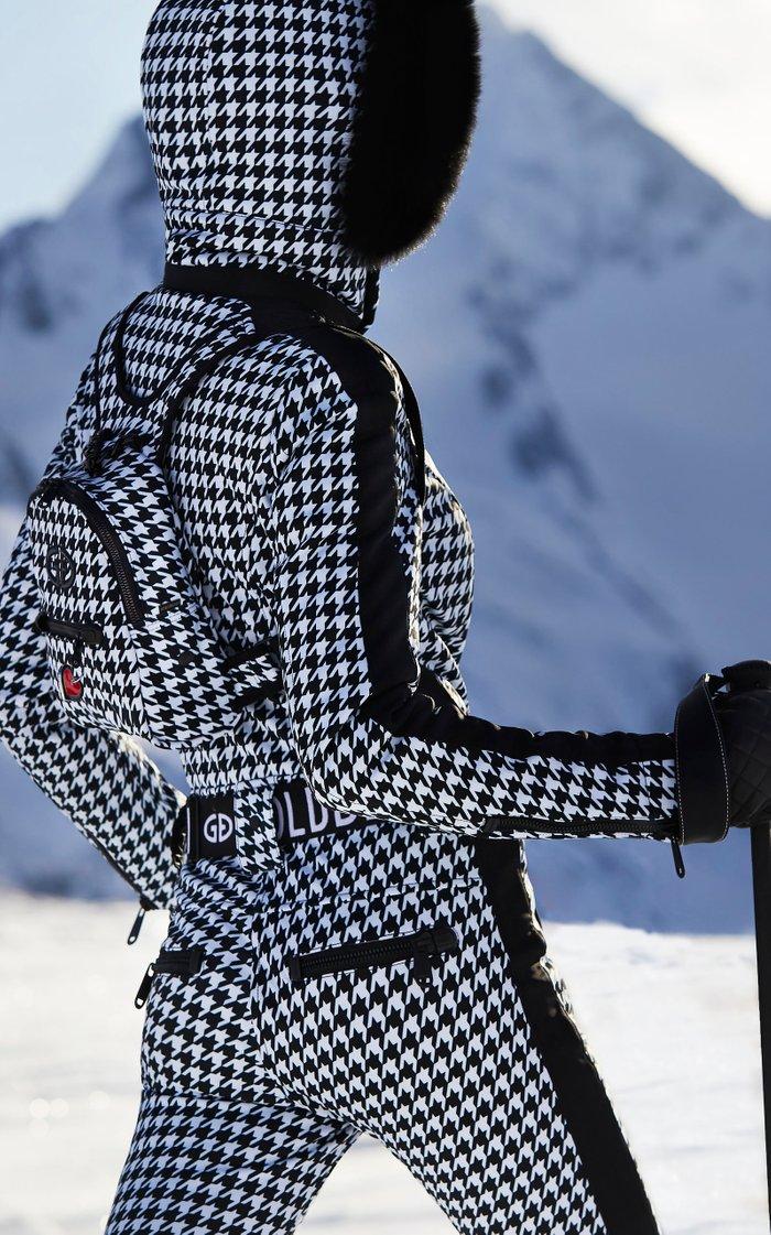 Lily Houndstooth Shell Ski Pants
