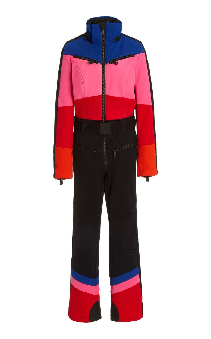 Pearl Colorblock Down Shell Ski Suit