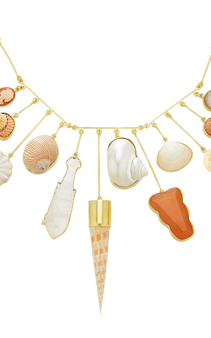 Mother of Pearl Charm Necklace