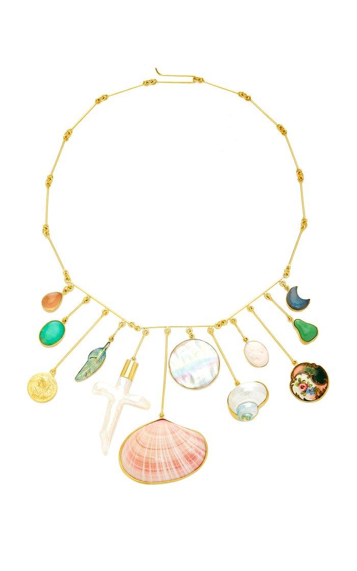 Vintage Glass Charm Necklace