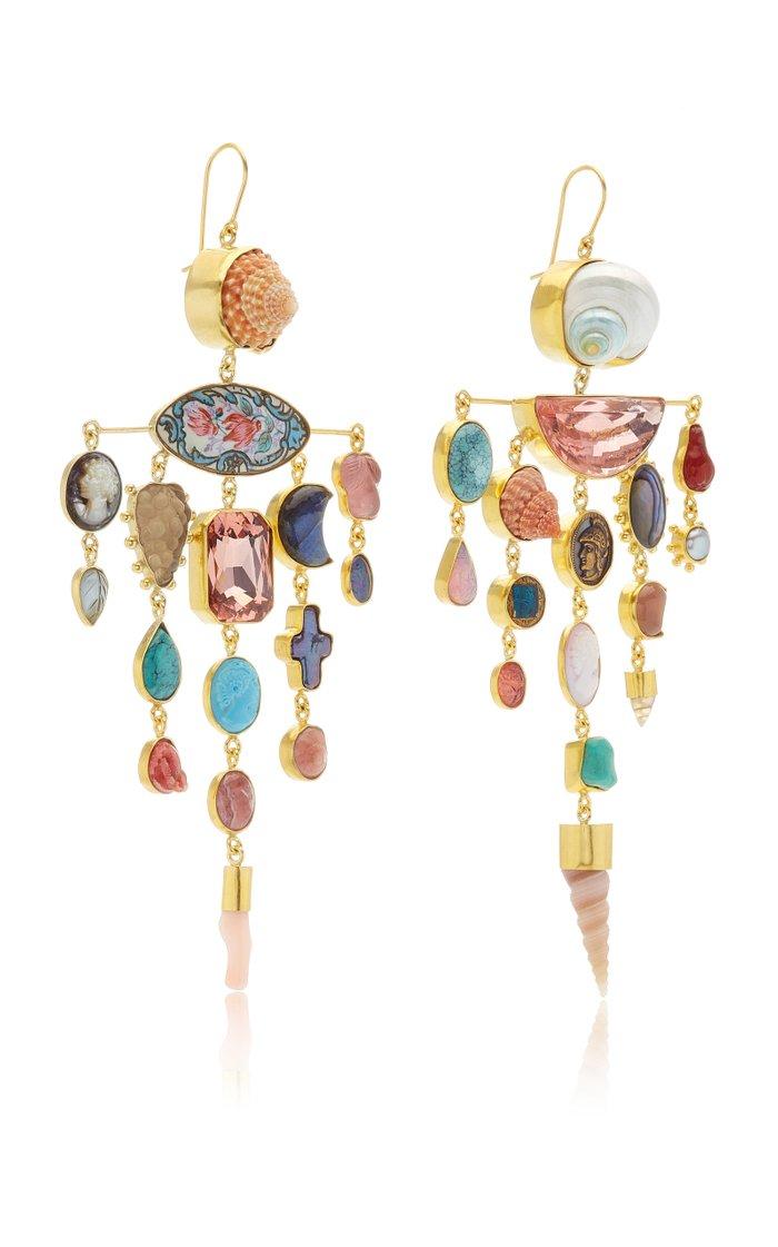Multi Stone Balance Earrings