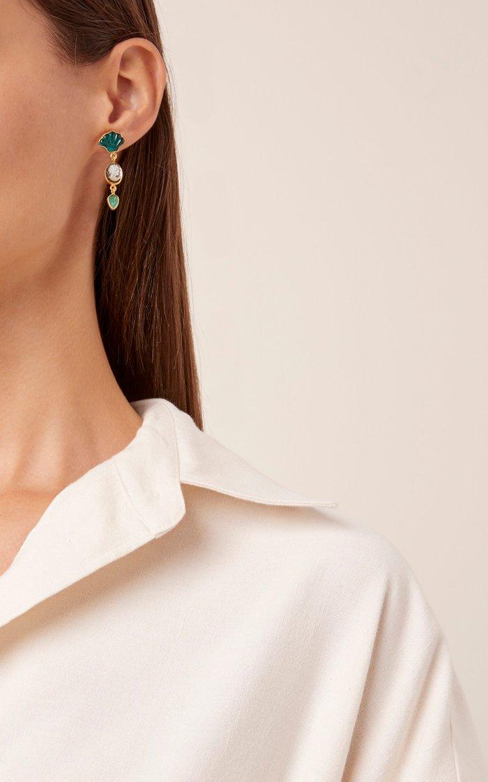 Malachite Charm Earrings