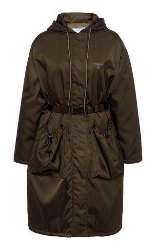 Oversized Belted Tech-Nylon Coat