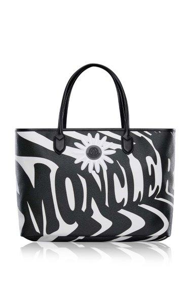 0 Moncler Richard Quinn Logo-Print Canvas Tote