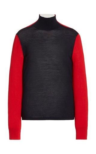 Masha Colorblock Merino Wool Sweater