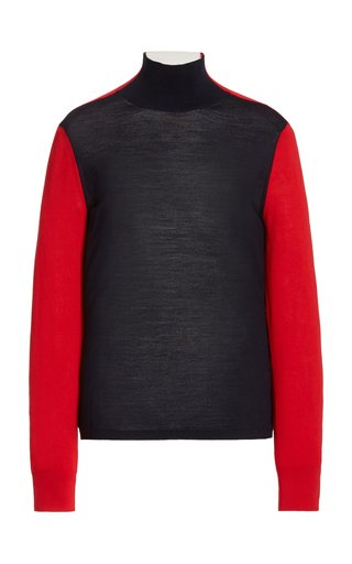 Masha Colorblock Merino Wool Sweater