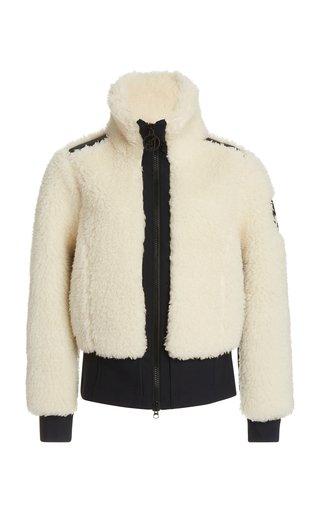 Rika Wool-Blend Sherpa High-Neck Jacket