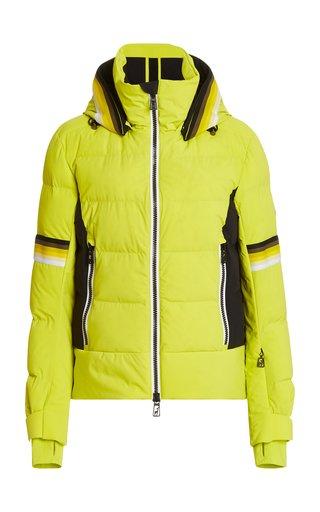 Mura Padded Stretch-Shell Hooded Ski Jacket