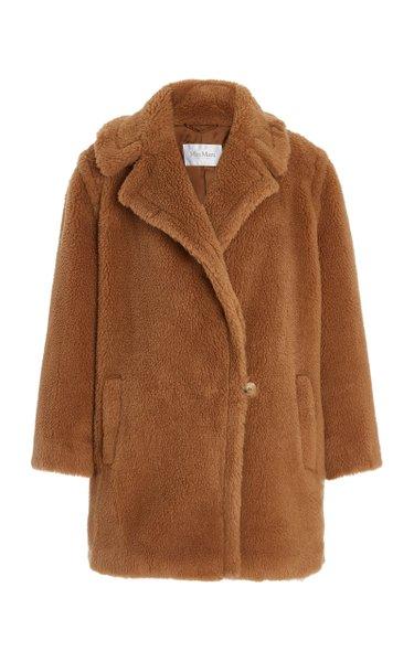 Wool-Silk Short Teddy Coat