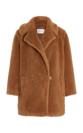 Wool-Silk Short Teddy Coat