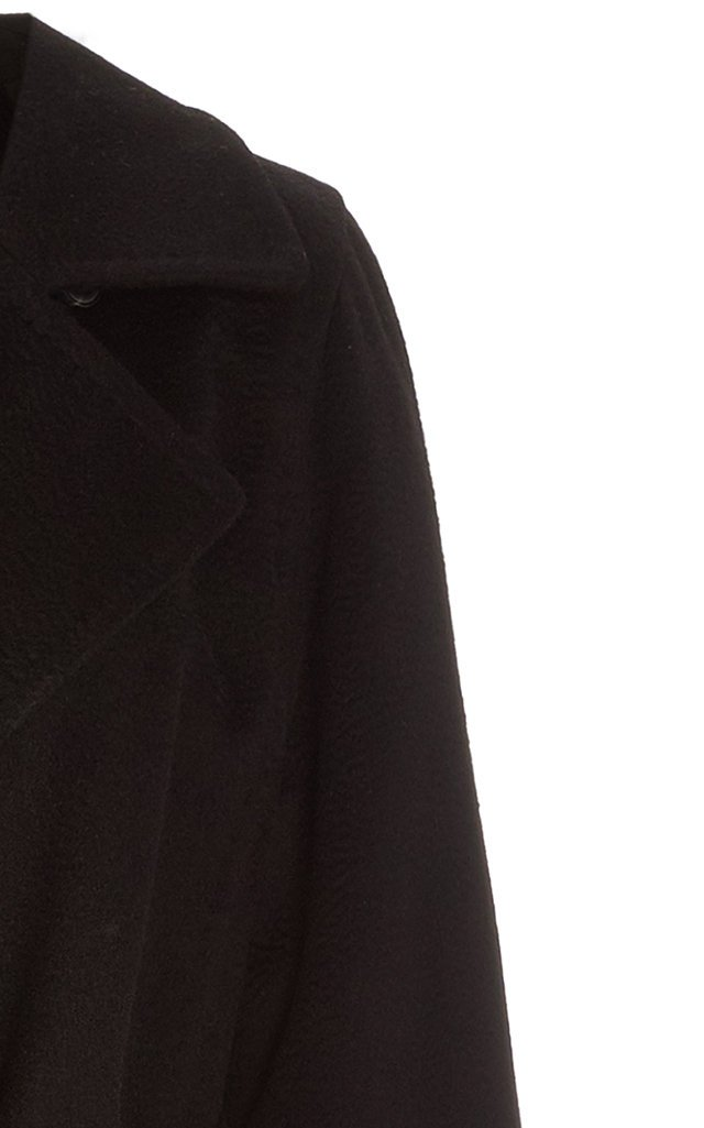 Manuela Belted Camel Wool Trench Coat