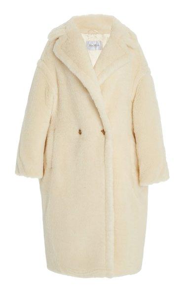 Oversized Alpaca-Blend Teddy Coat