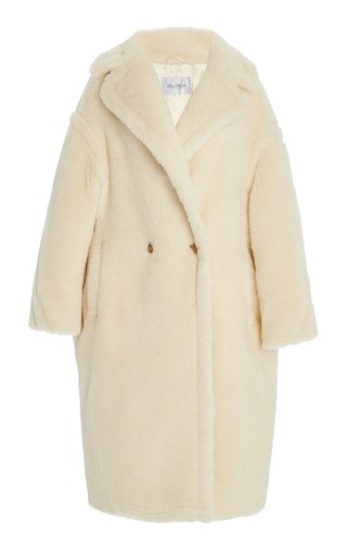 Oversized Alpaca-Blend Teddy Coat