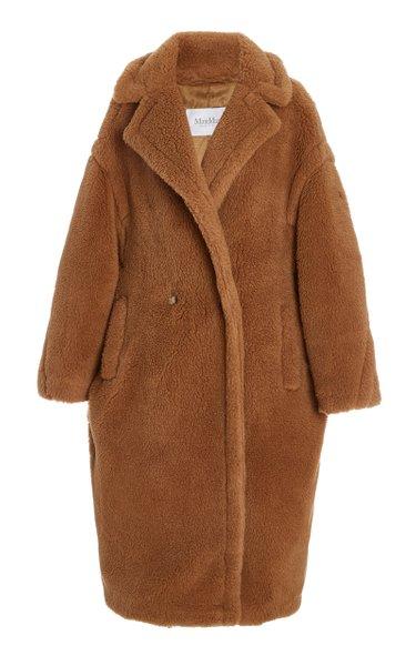 Oversized Wool-Silk Teddy Coat