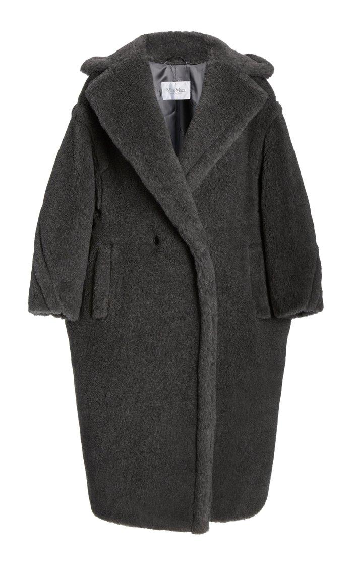 Oversized Wool-Alpca Blend Teddy Coat