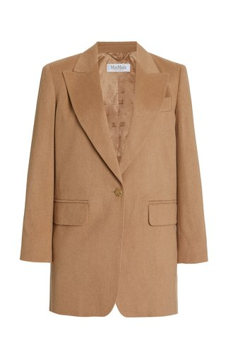 Eva Wool Single-Breasted Blazer