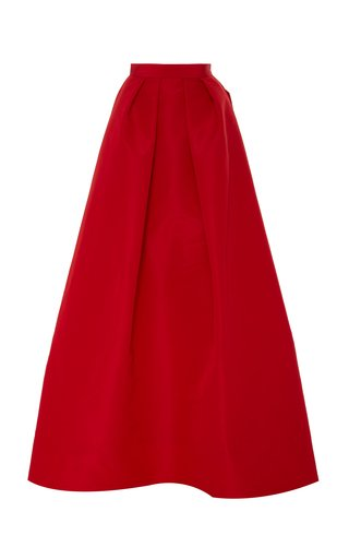 Pleated Silk-Faille Ball Skirt