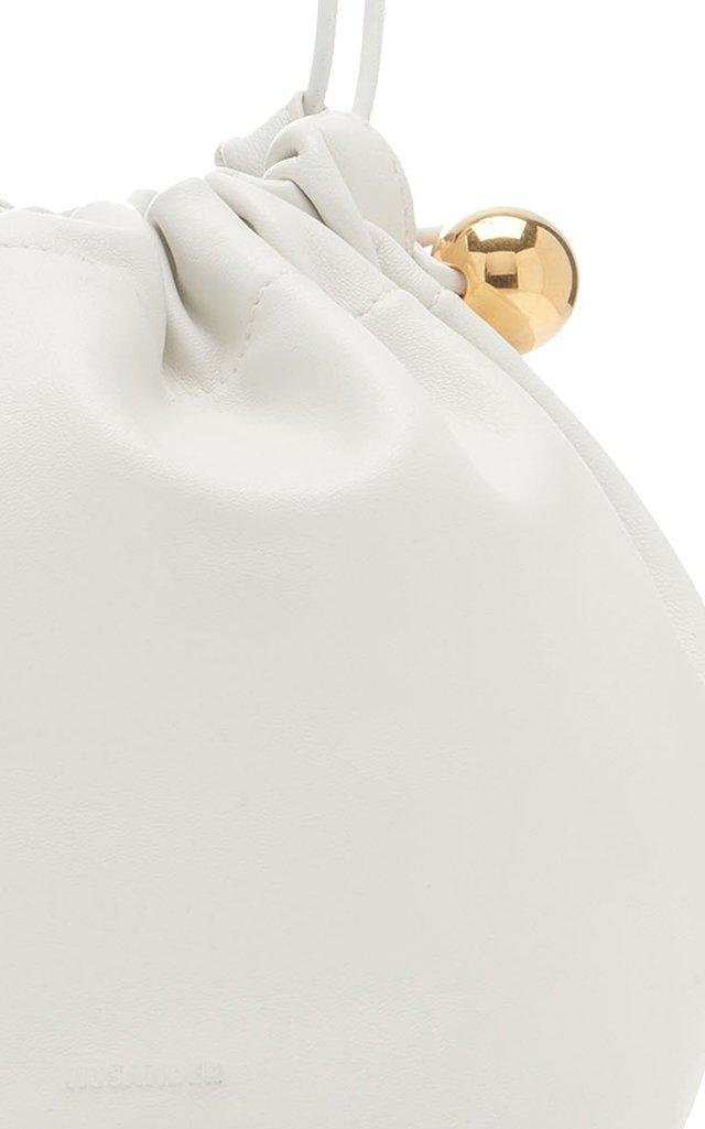Small Sphere Drawstring Leather Shoulder Bag