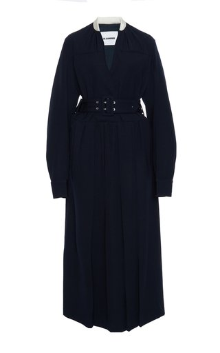 Belted Wool Dress