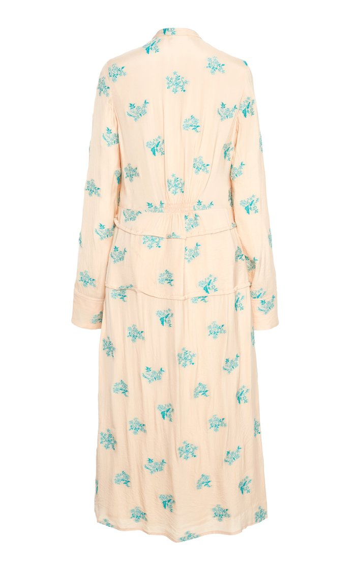 Printed Crepe Shirt Dress