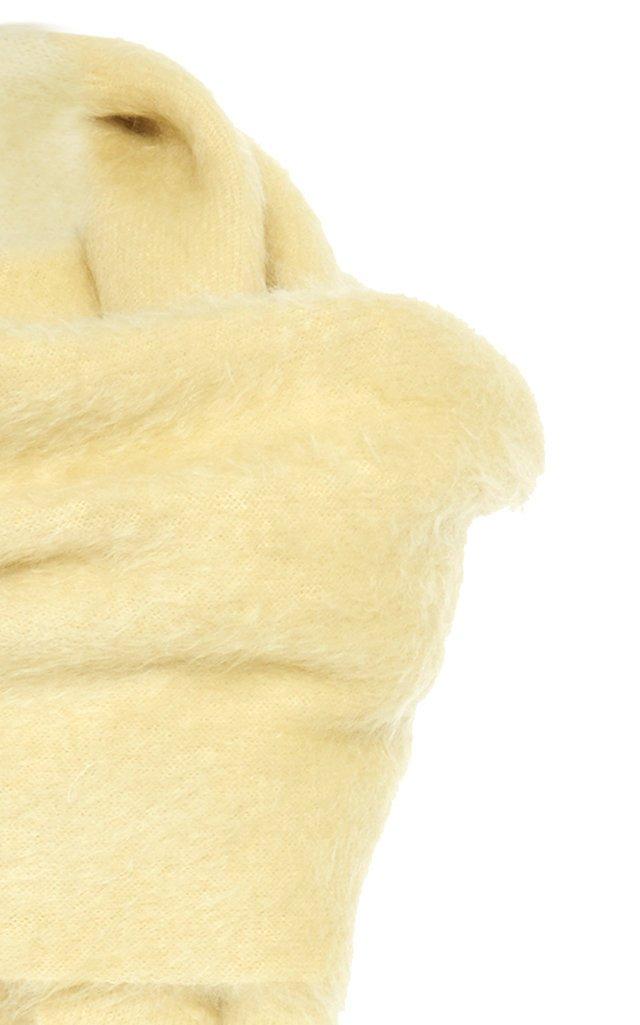 Draped Wool-Blend Dress