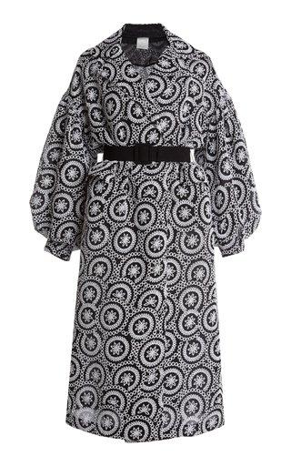 Ira Belted Sequin-Embellished Silk Coat