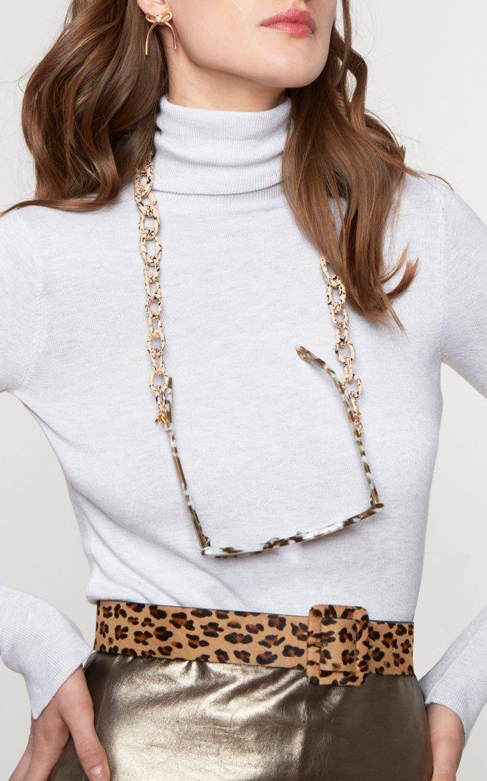 Leopard-Print Calf-hair Belt