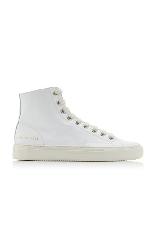 Tournament High-Top Leather Sneakers