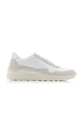 Cross Trainer Leather and Suede Sneakers