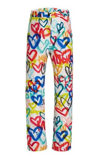 3 Moncler Grenoble Heart-Print Shell Ski Pants