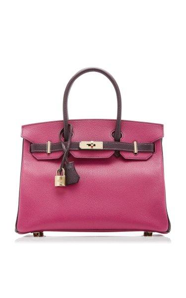 Hermès 30cm Rose Pourpre & Raisin Chevre Leather Birkin Bag