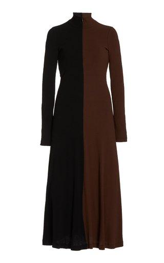 Moda Exclusive Two-Tone Knit Midi Dress