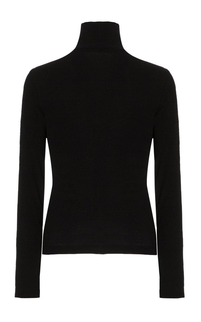 Cotton-Knit Turtleneck Sweater