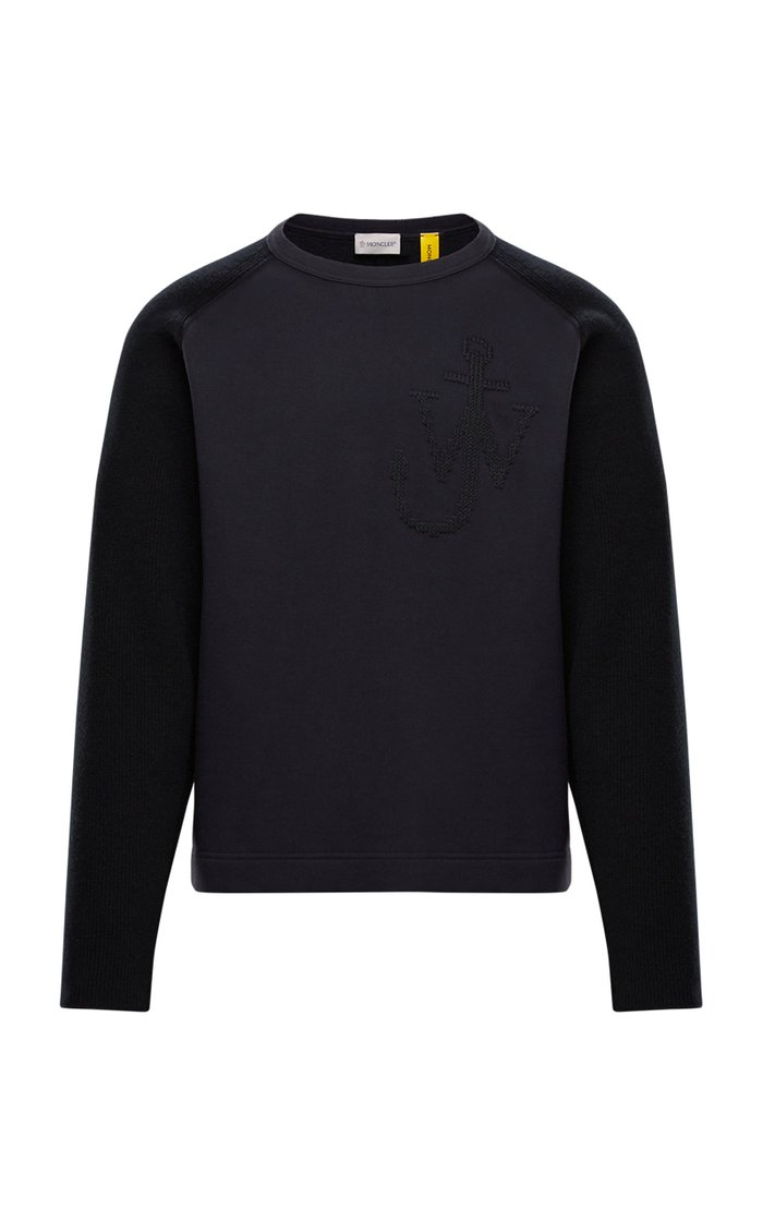1 Moncler JW Anderson Embroidered Cotton and Wool Sweatshirt