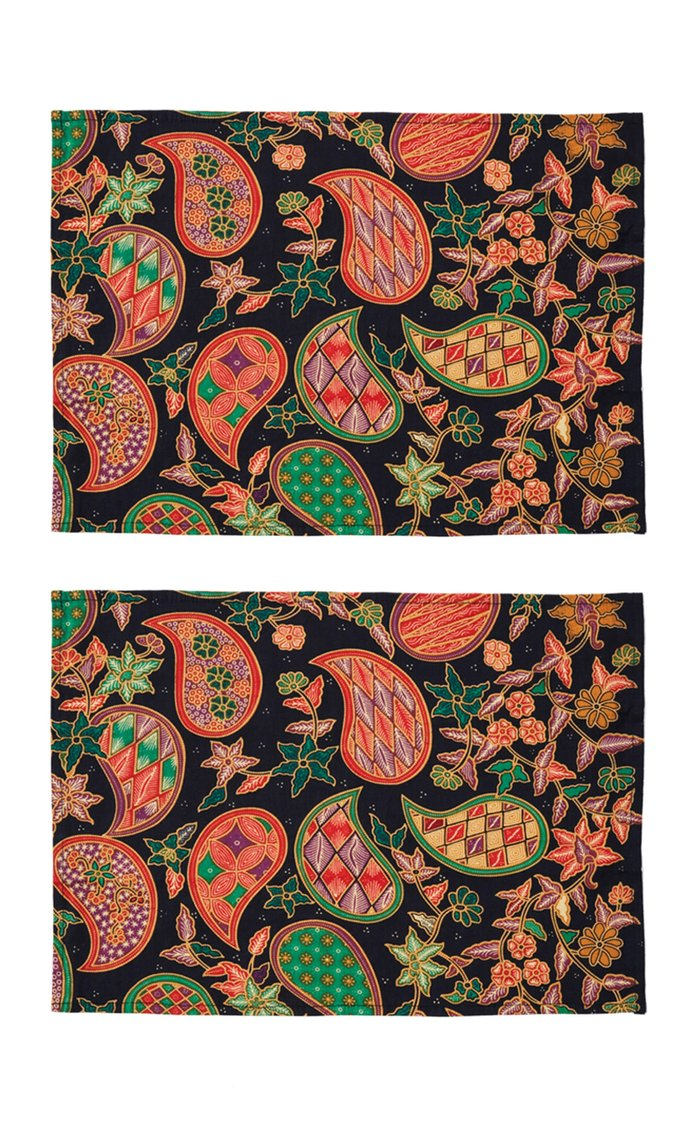 Set Of 2 Batik Placemants