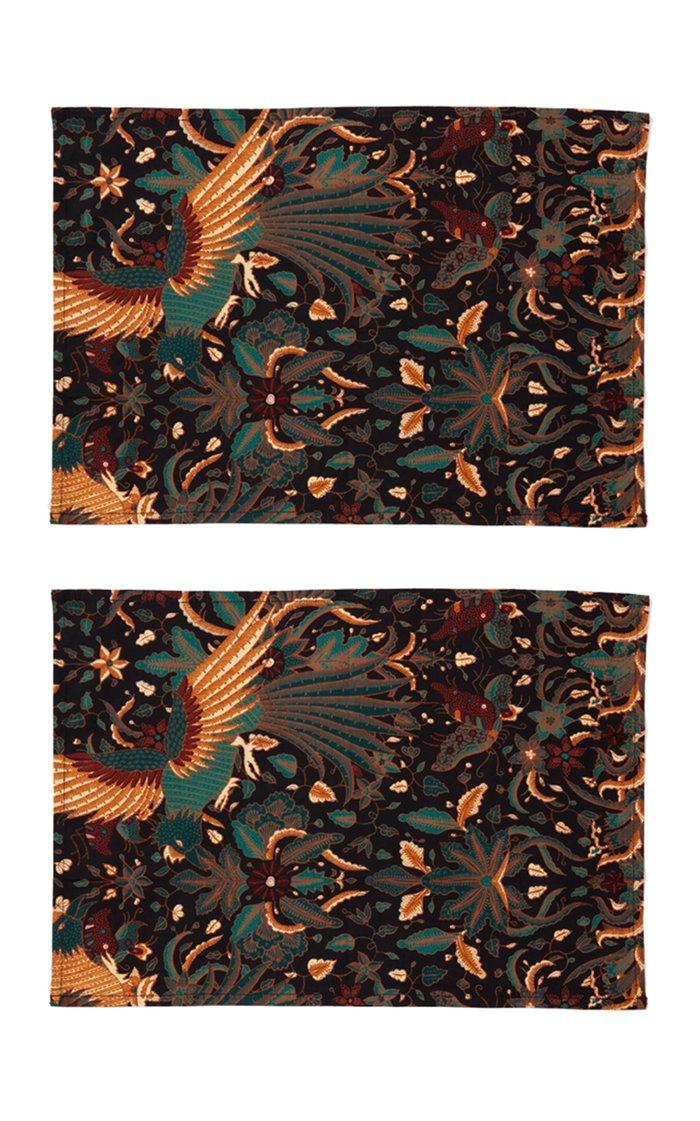 Set Of 2 Batik Placemants