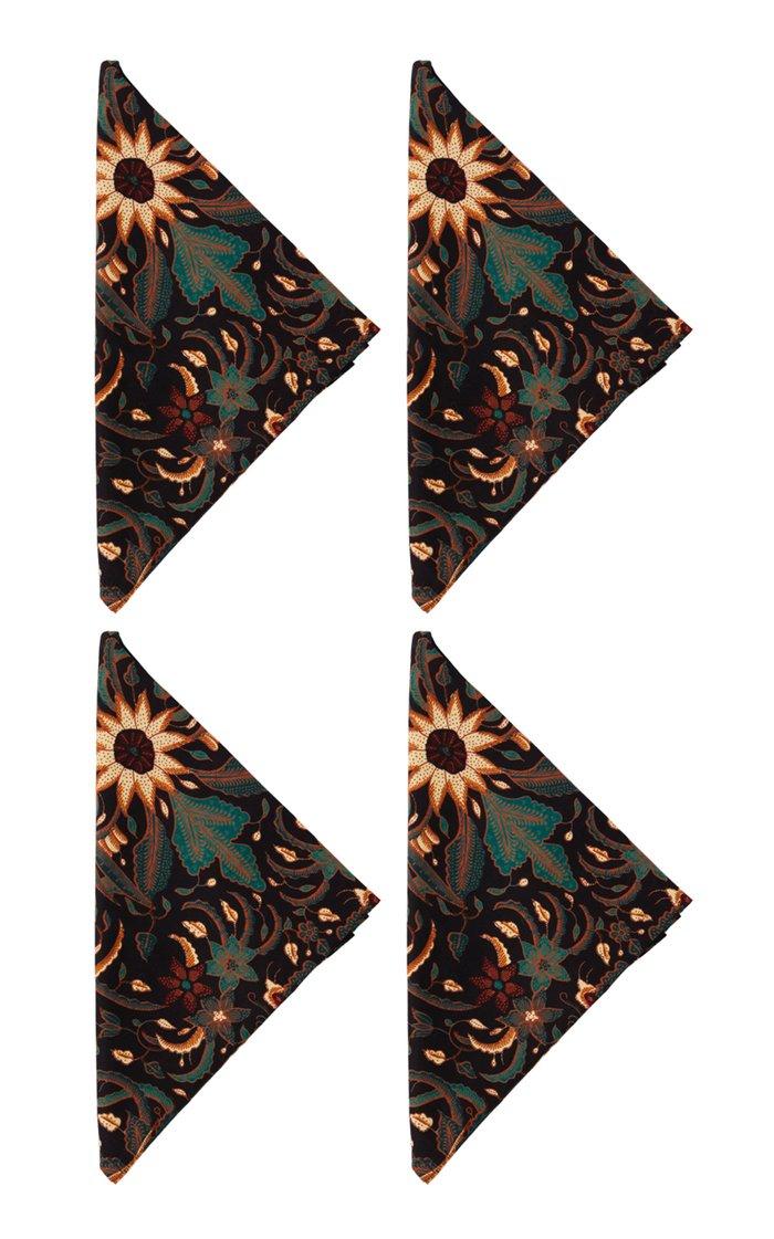 Set Of 4 Batik Napkins