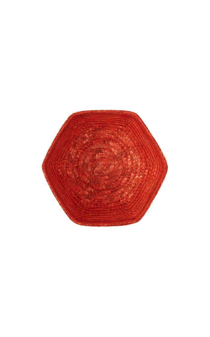 Rafia Bread Basket Orange