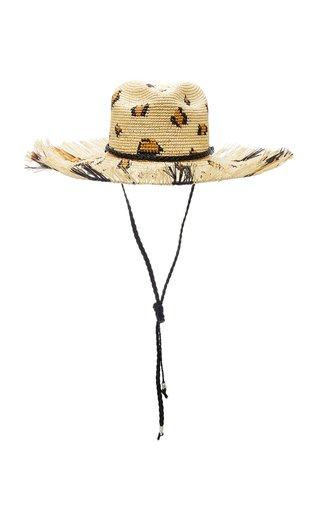 Leopard-Print Straw Hat