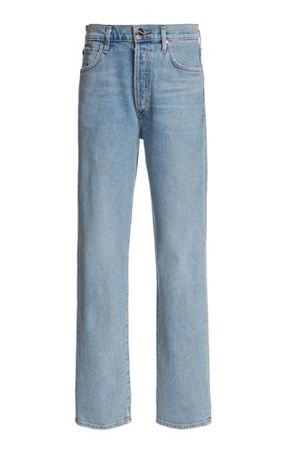 The Benefit Stretch High-Rise Straight-Leg Jeans