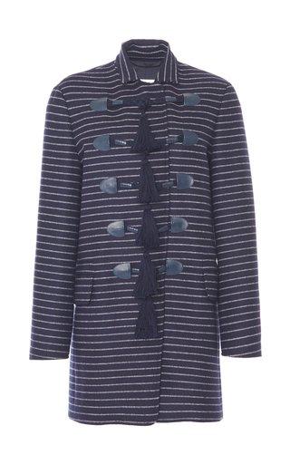 Bill Tassel-Detailed Striped Wool-Cashmere Jacket