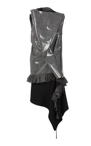 Wishful Asymmetric Vinyl Dress