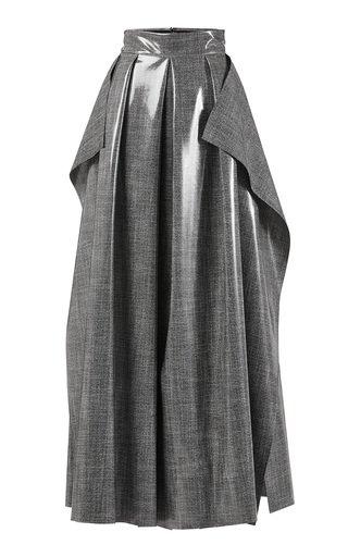 Fondness Pleated Crepe Skirt