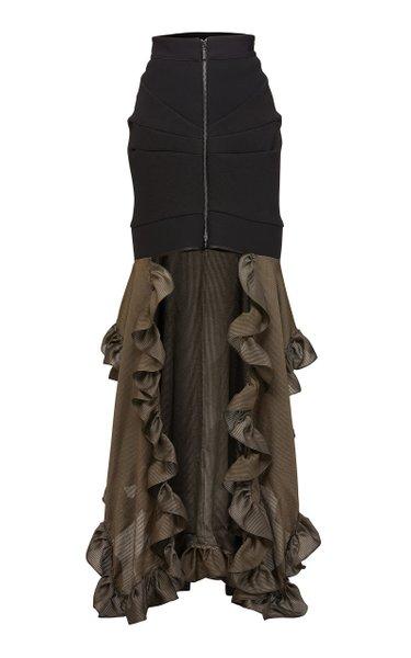 Frelaté Two-Tone Faille Skirt