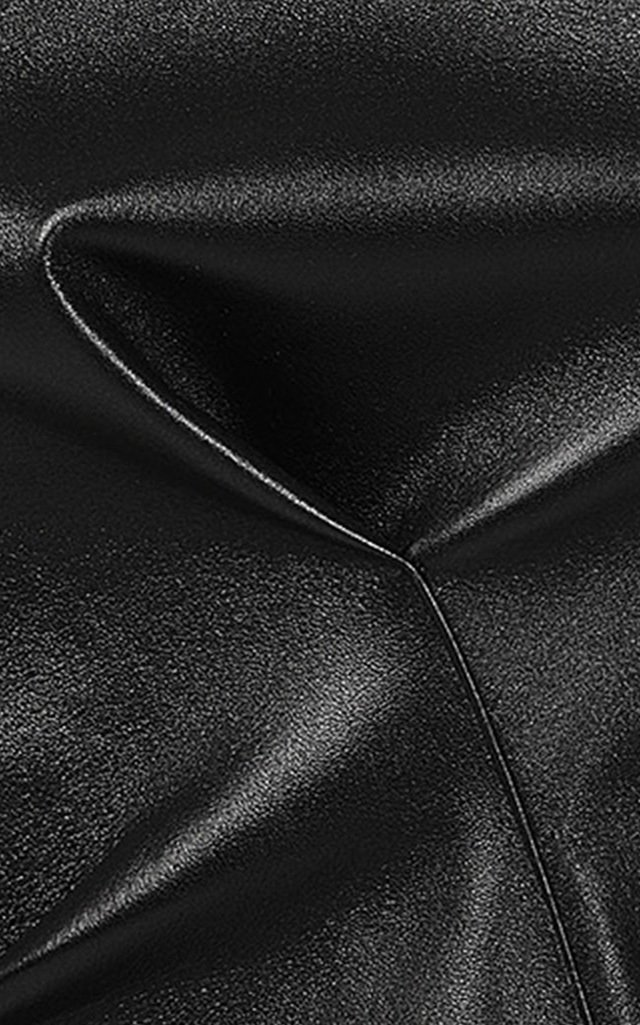 Aligned Leather Top